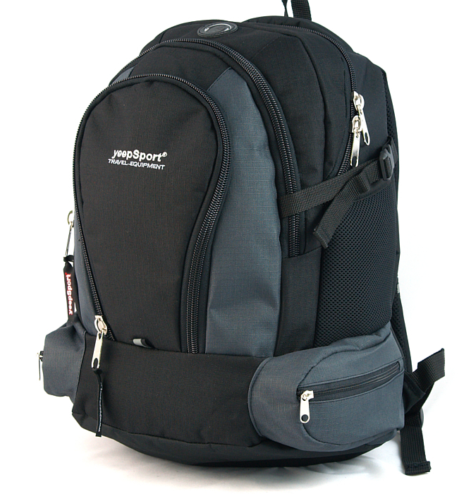 large school backpack #118 S78 grey