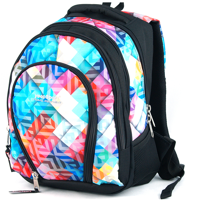 medium school backpack #35 S113dx geometric