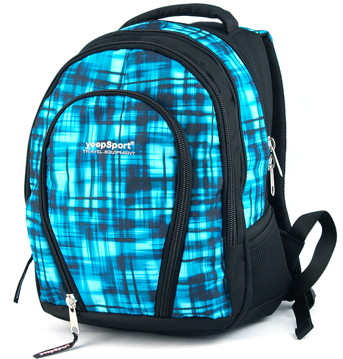 medium school backpack #38 S113dx blue matrix
