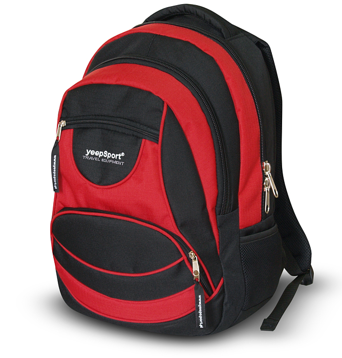 medium-large school backpack #55 S105 red
