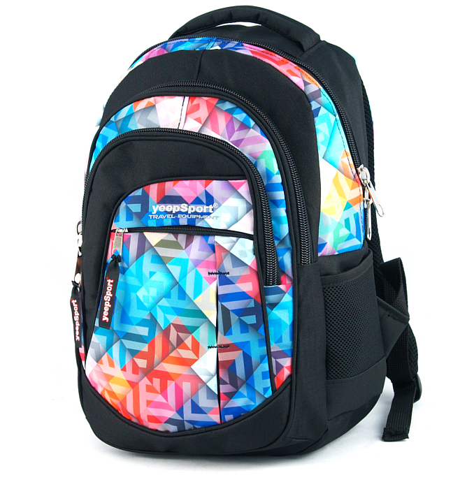 medium school backpack #71 S103dx geometric