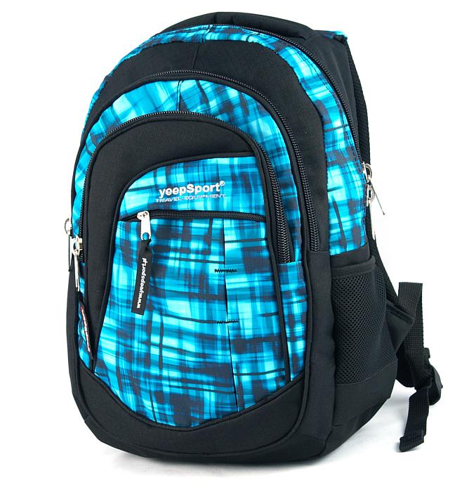 medium school backpack #73 S103dx blue matrix