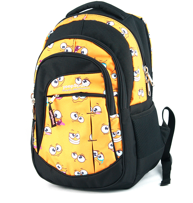 medium school backpack #75 S103dx yellow smile