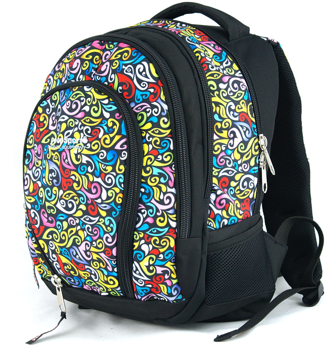 medium school backpack #309 S113dx crazy yellow
