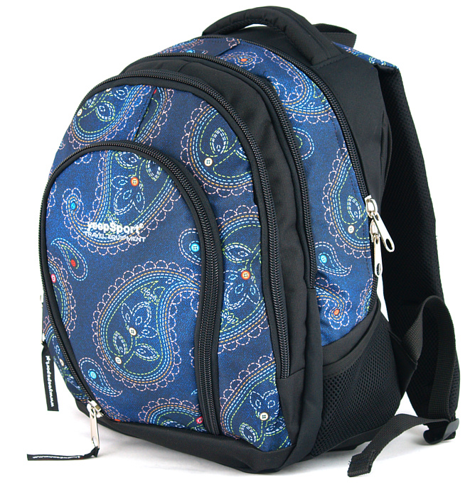 medium school backpack #318 S113dx mandala blue