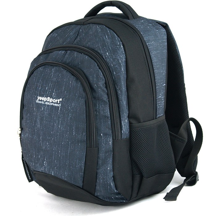 medium school backpack #340 S114dx jeans blue