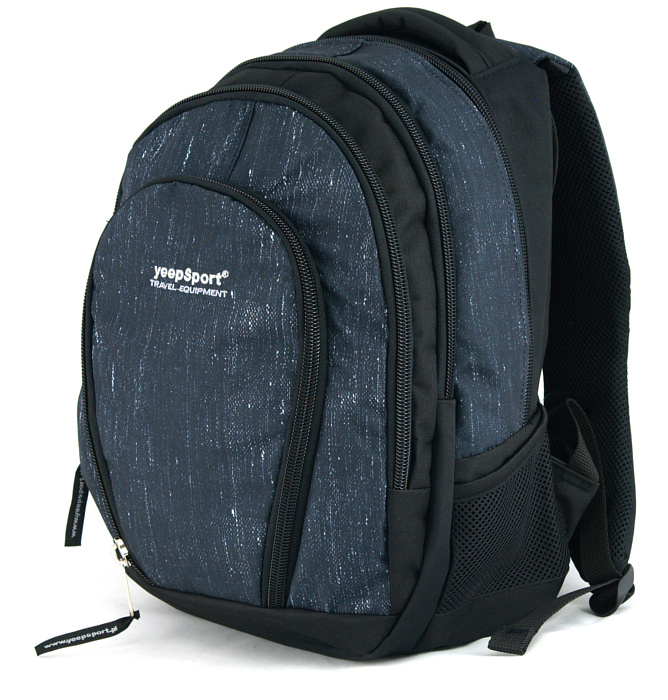 medium school backpack #341 S113dx jeans blue