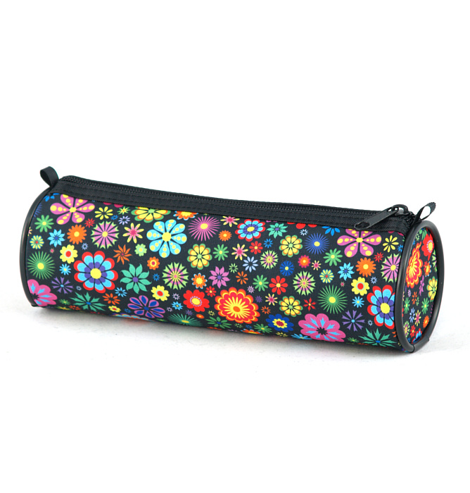 tube-shaped pencil case #352 T2 flowers round