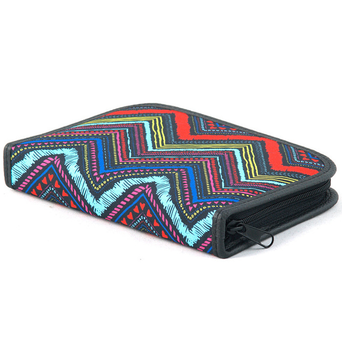 four section divided pencil case #453 T2c mexican