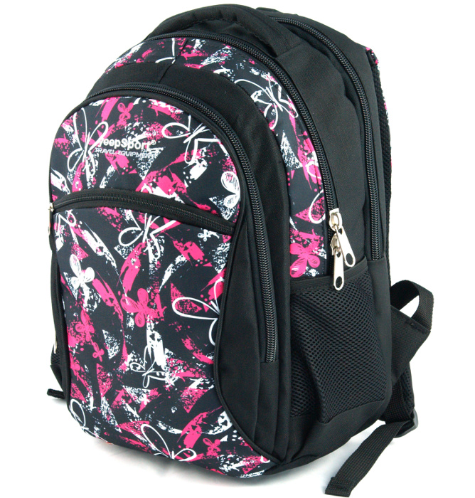 medium school backpack #507 S94dx butterfly pink