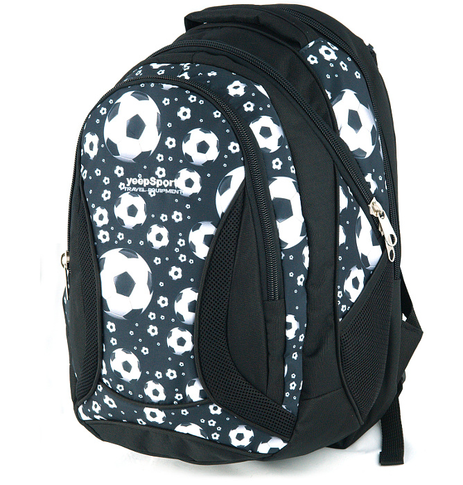 large school backpack #472 S106dx soccer black