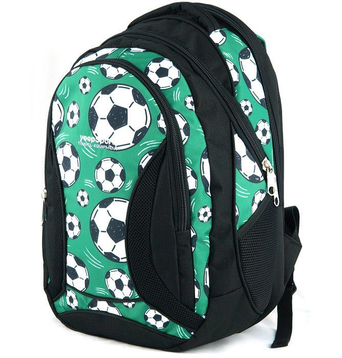 large school backpack #482 S106dx soccer green