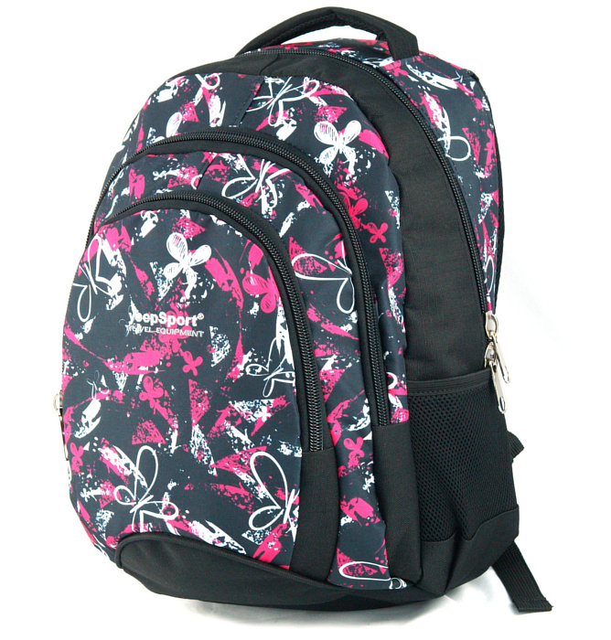 medium school backpack #508 S114dx butterfly pink