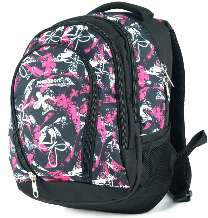 medium school backpack #509 S113dx butterfly pink