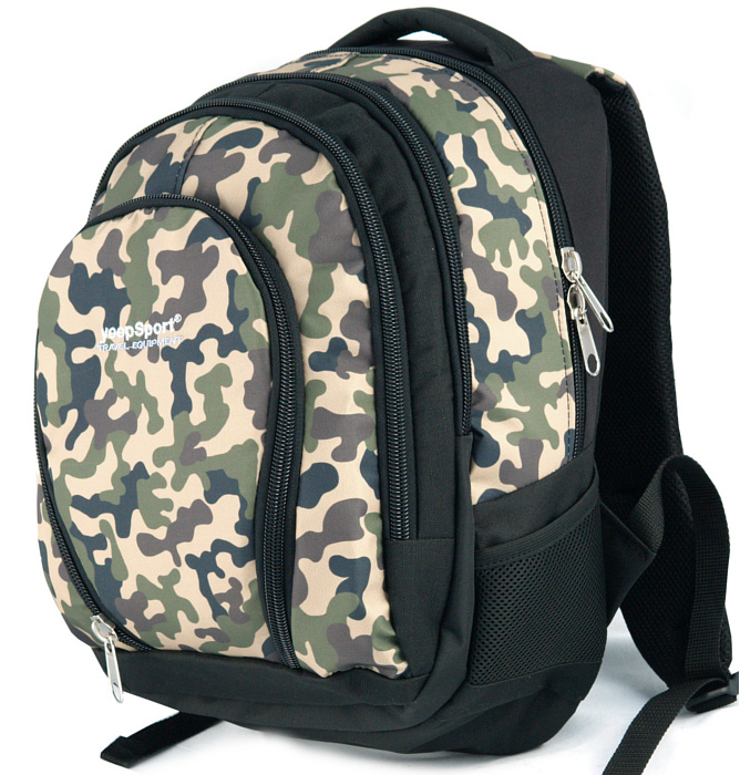 medium school backpack #532 S113dx black camo wood