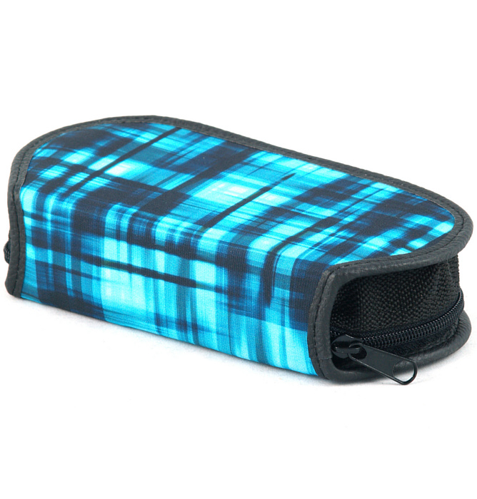 section divided pencil case #424 T2b blue matrix