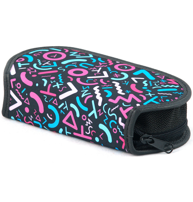section divided pencil case #431 T2b crazy pink