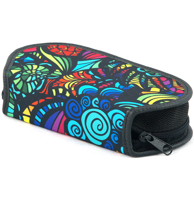 section divided pencil case #432 T2b mandala