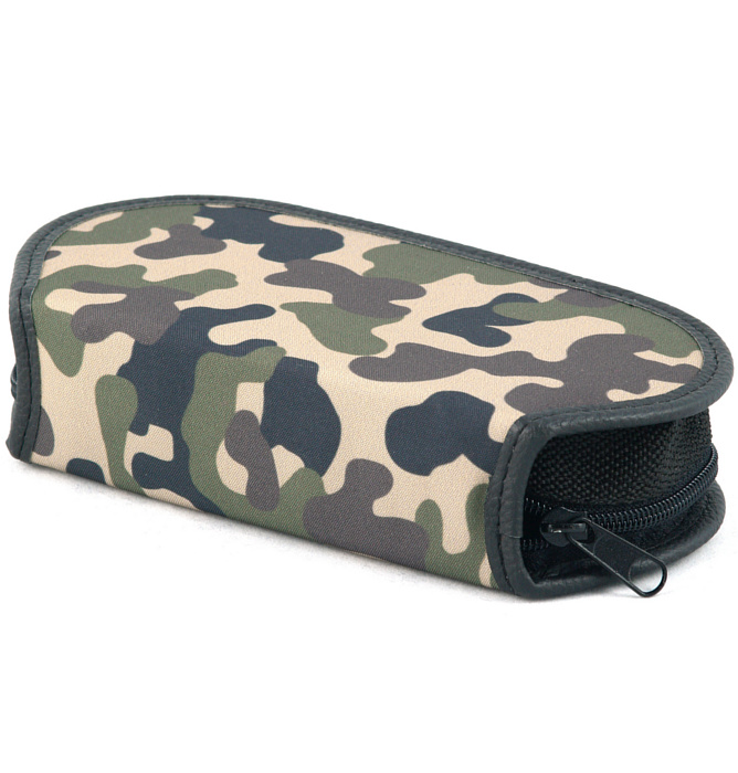 section divided pencil case #433 T2b black camo wood