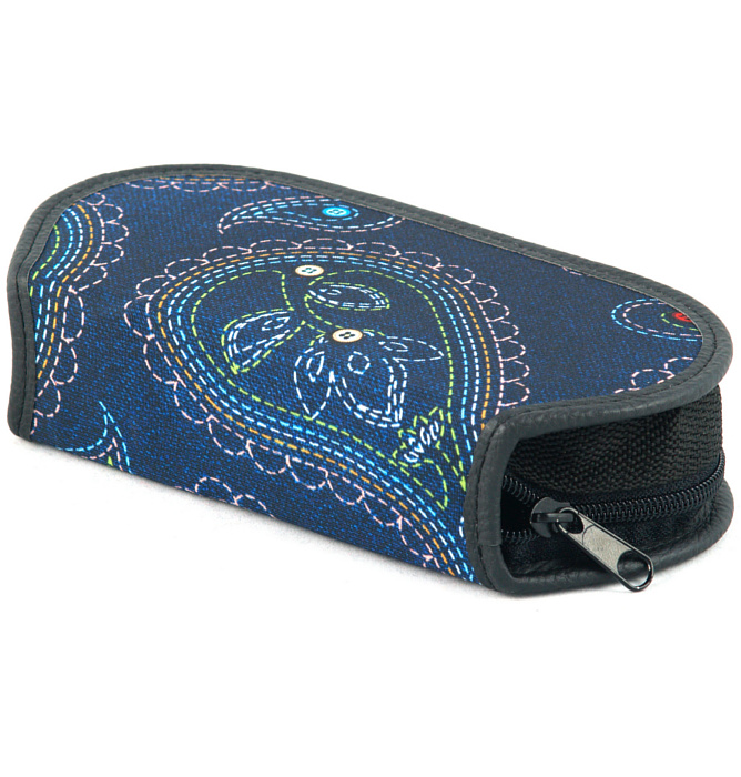 section divided pencil case #435 T2b mandala blue