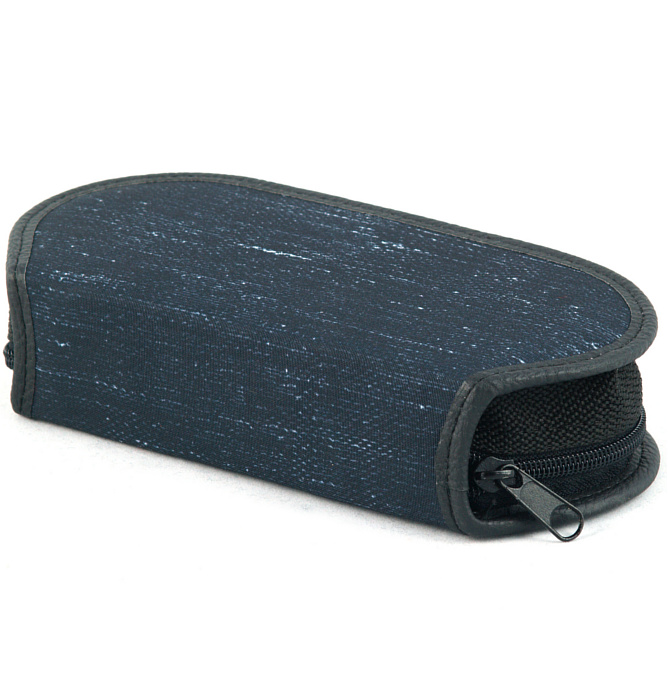 section divided pencil case #440 T2b jeans blue
