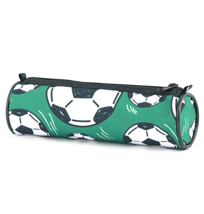 tube-shaped pencil case #523 T2 soccer green
