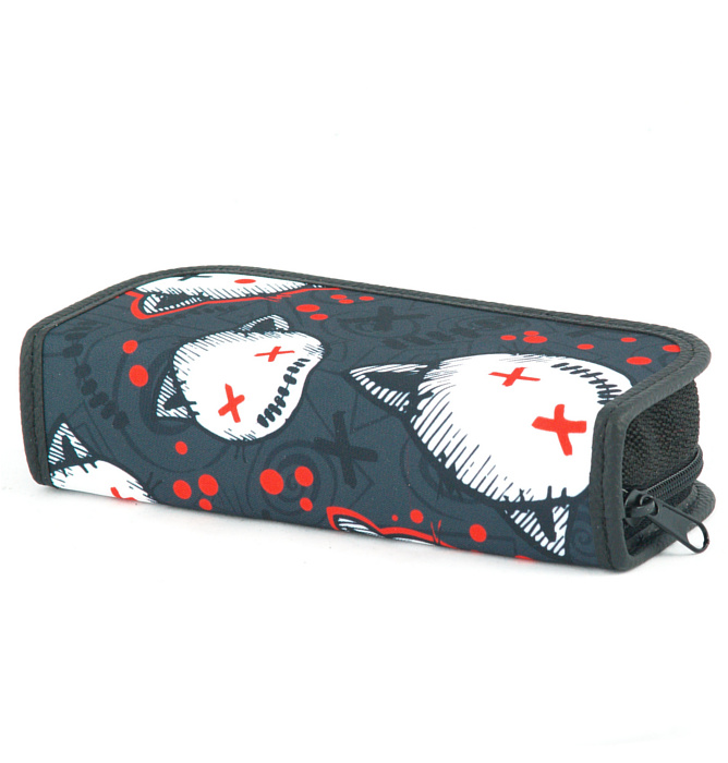 rectangle-shaped pencil case #542 T2a stressed kitten