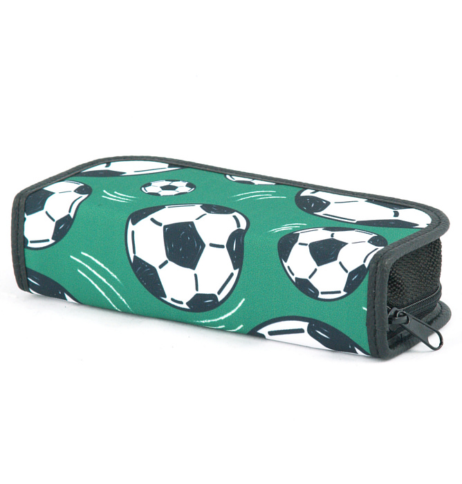 rectangle-shaped pencil case #547 T2a soccer green