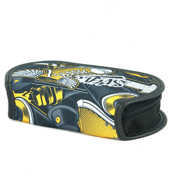 section divided pencil case #597 T2b graffiti yellow stylez