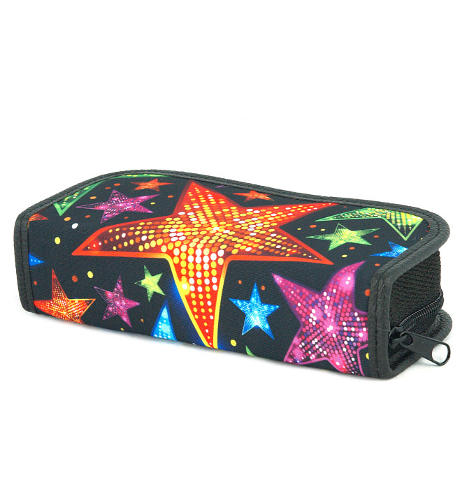 rectangle-shaped pencil case #599 T2a stars