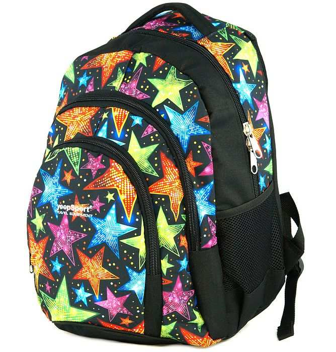 large school backpack #615 S119dx stars