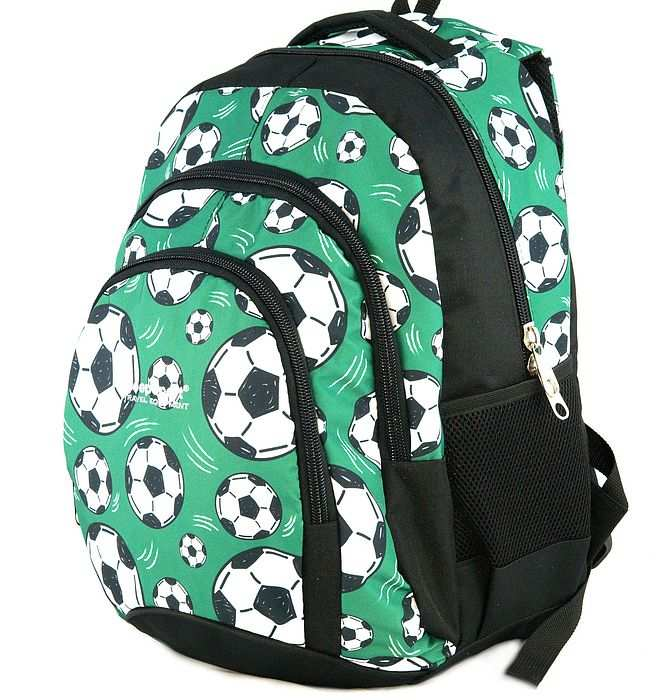 large school backpack #617 S119dx soccer green