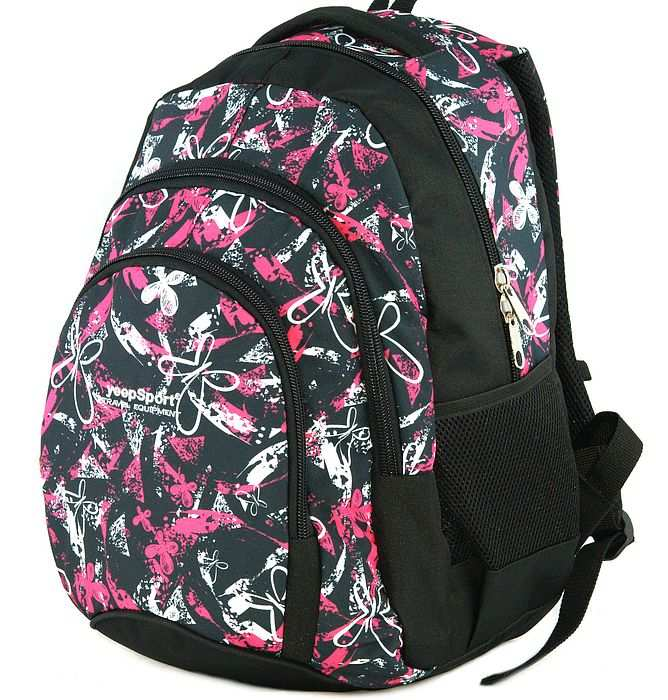 large school backpack #621 S119dx butterfly pink