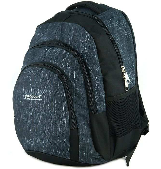 large school backpack #628 S119dx jeans blue