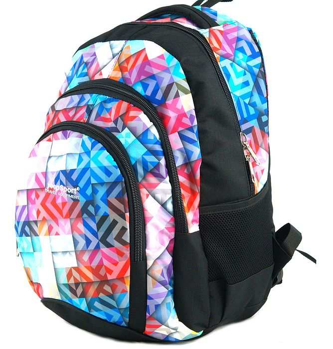 large school backpack #635 S119dx geometric